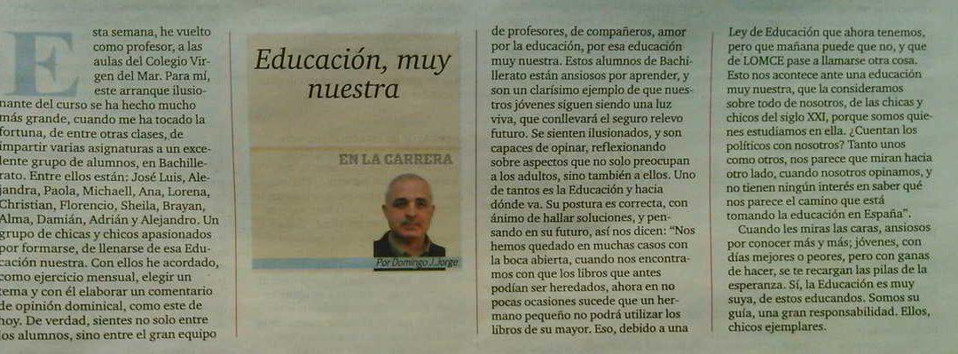 Alumnos de Bachillerato escribirán artículos en Diario de Avisos